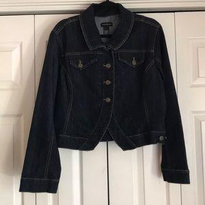 Dark Denim Jacket by Ashley Stewart